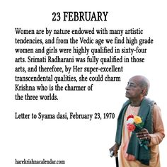 23 February  For full quote go to: http://harekrishnaquotes.com/23-february/  Subscribe to Hare Krishna Quotes: http://harekrishnaquotes.com/subscribe/