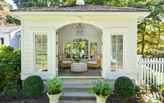 POOL HOUSE – Start collecting design ideas for the future pool house. This one can work. sunroom