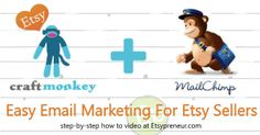 Etsy Shop Email Marketing with Craftmonkey and Mailchimp {video} craftmonkeyvideofeature