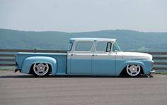 1957 Ford F100 custom crew cab.