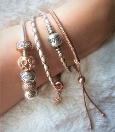 Pandora Rose Gold Bracelets Summer