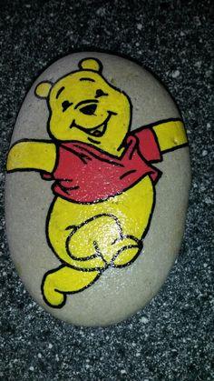 Peter plys malet på sten