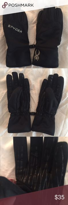 Spyder Ski & Snowboard Gloves Ski & Snowboard company gloves. Clip together when you aren't using as seen in the pic. Can be used as regular winter gloves also. Wore once. Spyder Accessories Gloves & Mittens