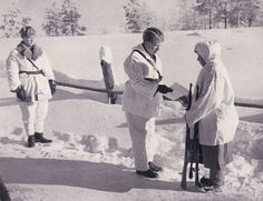 """Simo Häyhä, nicknamed """"White Death"""" by the Red Army, was a Finnish sharpshooter. Using a standard iron-sighted, bolt action rifle in the Winter War, he has the highest recorded number (505) of confirmed kills in any major war."""