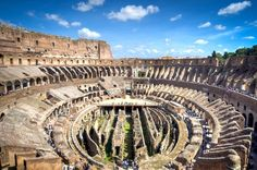 Interior of the Colosseum in Rome, Italy