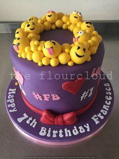 Emoji wreath birthday cake.