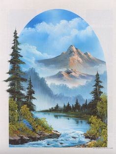 Bob Ross Paintings, Bob Ross Art Gallery, Bob Ross Artwork, Pictures