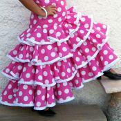 Tutorial: cómo hacer un traje de flamenca de niña (5) Volantes.