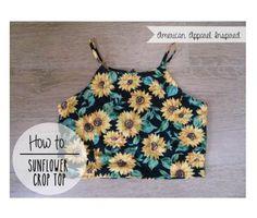 DIY Sunflower Crop Top  #Fashion #Beauty #Trusper #Tip