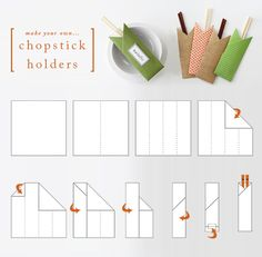 Make Your Own Chopstick Holders - Japanese wrapping. (noshi?)