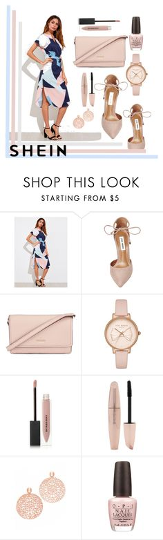 """""""Pink loves Shein"""" by puljarevic ❤ liked on Polyvore featuring Steve Madden, Kate Spade, Ted Baker, Burberry, Forever 21, Bronzallure, OPI, white, Pink and Blue"""