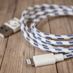 Woven iPhone5 Lightning Cable  from Firebox.com