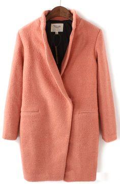 Abrigo solapa manga larga-Rosado EUR€38.45
