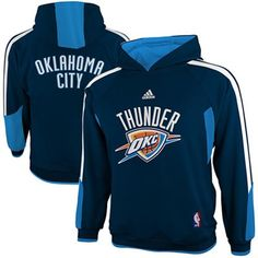4771ee159f1 adidas Oklahoma City Thunder Youth On-Court Pullover Hoodie - Navy Blue