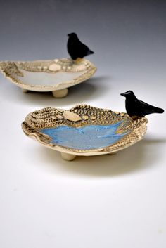 Raven candle holders from Lee Wolfe Pottery $18.00