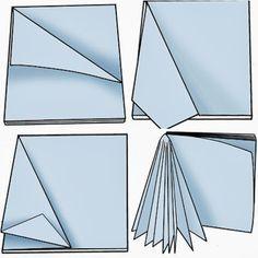 Creare stelle di carta tridimensionali utilizzando sagome for Stelle di carta tridimensionali