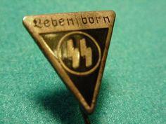 Lebensborn Nazi SS lapel pin