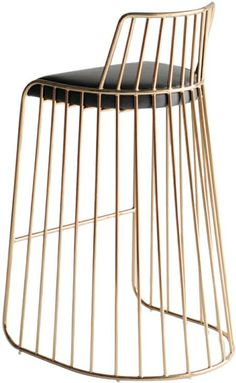 Phase brass stool