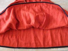 Antigüedades: Antiguo manteo, saya o falda de traje tradicional popular de Segovia. Indumentaria de segoviana. - Foto 5 - 99480359
