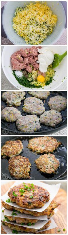 Chicken Zucchini Fritters Recipe - kiss recipe