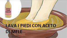 Basta lavare i piedi con aceto di mele una sola volta a settimana per godere di tutti i benefici che questo prodotto vi apporta.
