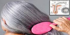 Como escurecer os cabelos brancos naturalmente sem usar nenhum tipo de tintura! | Cura pela Natureza