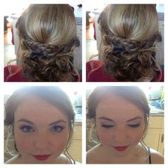 Prom hair and make up all about the red lips by gel bridal style