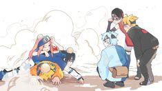Naruto x Boruto Naruto And Sasuke, Anime Naruto, Sasuke Sakura Sarada, Naruto Team 7, Naruto Comic, Naruto Cute, Naruto Shippuden Sasuke, Naruto Family, Naruto Images