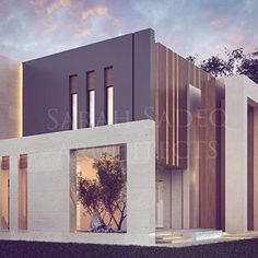 As we have been well known for creative doors and main entrance , we present a New design today , where the main entrance materials and cut… Minimalist Architecture, Modern Architecture House, Facade Architecture, Residential Architecture, Modern Small House Design, Modern Villa Design, Dream Home Design, Facade Design, Exterior Design