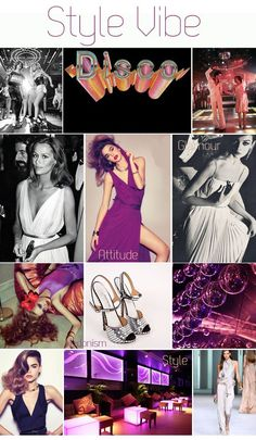 Last Days of Disco - 70's inspired bridal / wedding inspiration boards on Love My Dress by event planner Pocketful of Dreams. Style Vibe: Silver, purple, blush pink, white, glitter balls, flares, seventies, disco fever