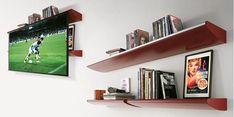 Shelf with hidden projector screen Home Theater Screens, Home Theater Basement, Home Theater Setup, Home Theater Projectors, Home Theater Seating, Hidden Projector, Projector Ideas, Cinema Projector, Houses