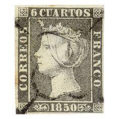 El primer sello de España (1850) #sellos #filatelia