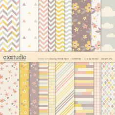 Druckbare digitale Papier Pack für Scrapbooking und von OtoStudio