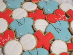Doctor Nurse Medical Decorated Sugar Cookie Collection on Etsy, $18.00