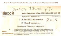 Consigue la titulación de Técnico y Técnico Superior de Formación Profesional. Convocatoria de Purbas LIbres 2018. #Madrid #FormaciónProfesional #FP Madrid, Math Equations, Summoning, Baccalaureate, Degree Of A Polynomial