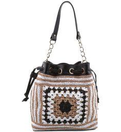 Bolsa saco de crochê Arezzo | Moda em Crochê                              …