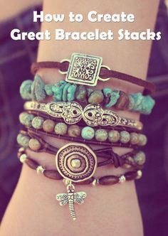 How to Create Great Bracelet Stacks | Jewelry Trends and Style Tips by Ever Designs http://www.everdesigns.com