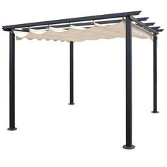There are lots of pergola designs for you to choose from. You can choose the design based on various factors. First of all you have to decide where you are going to have your pergola and how much shade you want. Diy Pergola, Pergola Cost, Building A Pergola, Pergola Curtains, Small Pergola, Pergola Attached To House, Metal Pergola, Pergola With Roof, Cheap Pergola
