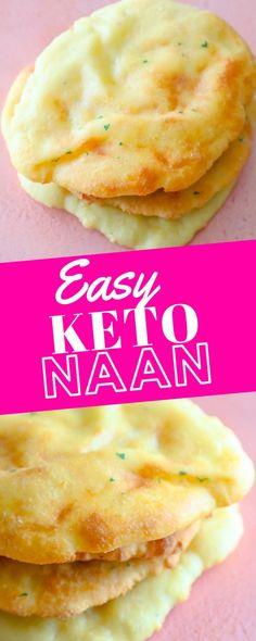 Keto Foods, Ketogenic Recipes, Low Carb Recipes, Healthy Recipes, Ketogenic Diet, Diabetic Recipes, Easy Keto Bread Recipe, Recipes With Naan Bread, Easy Bread