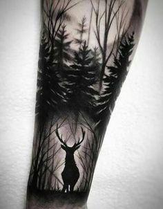 Amazing And Unique Arm Tattoo Designs For Women; Amazing And Unique Arm Tattoo; Forest Tattoo Sleeve, Wolf Tattoo Sleeve, Nature Tattoo Sleeve, Sleeve Tattoos For Women, Tattoo Sleeve Designs, Tattoo Nature, Tattoo Women, Leg Tattoo Sleeves, Tattoo On Leg
