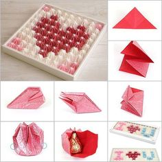 How to DIY Origami Valentine's Chocolate Gift Box