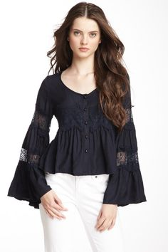 Gracia Lace Bell Sleeves Blouse