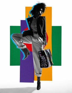 Imaan Hammam | 80's Retro Fashion Editorial | Vogue Paris