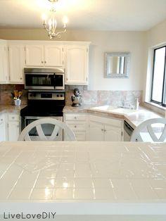 LiveLoveDIY: Creative Ways To Update Your Kitchen Using Paint