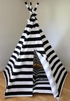 Black Stripe Tee Pee...what fun!