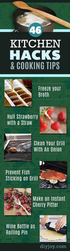Best Cooking Tips and Tricks - Recipe Shortcuts and Cool and Creative Food Hacks For Quick Food Preparation | DIY Joy Crafts http://diyjoy.com/cooking-tips-diy-kitchen-hacks