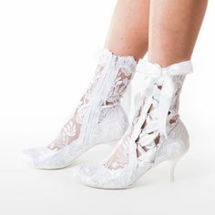 Vintage Lace Ankle Wedding Boots - House of Elliot Low Heel Shoes, Low Heels, Lace Ankle Boots, Wedding Boots, Bride Shoes, Bridal Lace, Vintage Lace, Vintage Bridal, Vintage Shoes