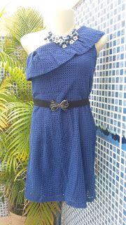 BreShop da Mah: Vestido NOVO Azul Klein
