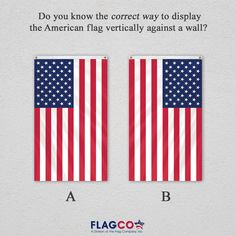 Hang Flag On Wall how to properly display an american flag | outdoors | pinterest