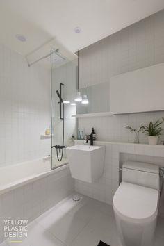 White Bathroom, Bathroom Interior, Modern Bathroom, Toilet Design, Bathroom Toilets, Bathroom Layout, Bathroom Inspiration, Building A House, Decoration